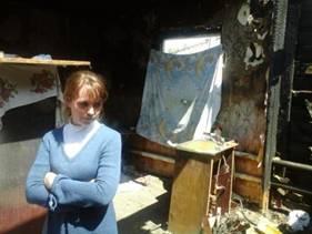 Рубцовская многодетная семья погорельцев просит помощи